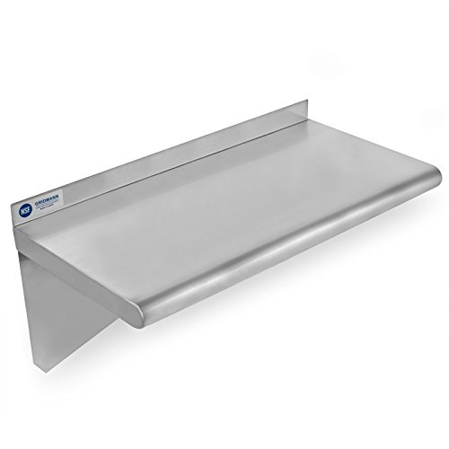 Gridmann Nsf Stainless Steel Kitchen Wall Mount Shelf